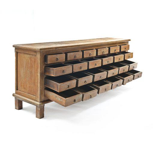 Buffet en bois à 24 tiroirs