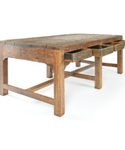 Table en bois à 8 tiroirs - Julien Cohen