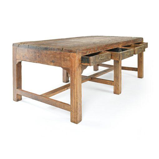 Table en bois à 8 tiroirs - Julien Cohen