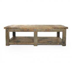 Longue table en bois patiné - Julien Cohen Affaire Conclue