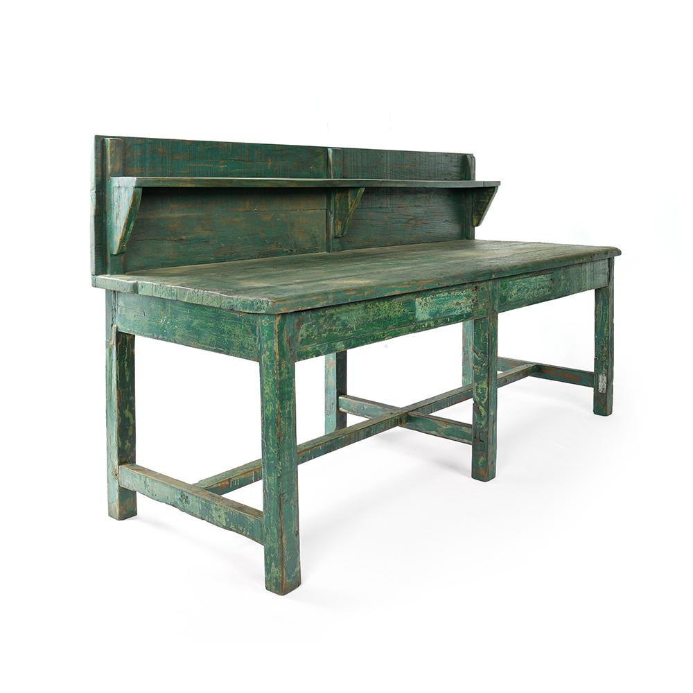 son d'atelier en bois avec patiné Table étagère AL54Rjc3q
