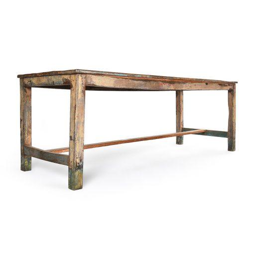 Table basse en bois patiné - Julien Cohen Affaire Conclue
