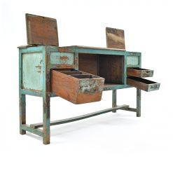 Console en bois patiné - Julien Cohen Mes Découvertes