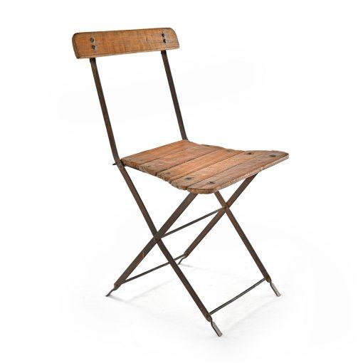 Chaise en métal et bois - Julien Cohen Mes Découvertes