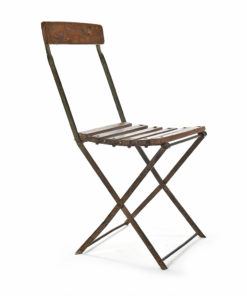 Chaise pliante en métal et bois - Affaire conclue Julien Cohen