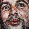 Portait de Che Guevara sur toile réalisé à la peinture à l'huile par Hom Nguyen - Julien Cohen Mes Découvertes