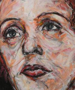 Portait d'Edith Piaf sur toile réalisé à la peinture à l'huile par Hom Nguyen - Julien Cohen Hom Nguyen - Mes Découvertes