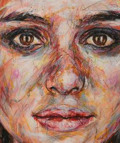 Portait de Keira Knightley sur toile réalisé à la peinture à l'huile par Hom Nguyen - Julien Cohen Mes Découvertes