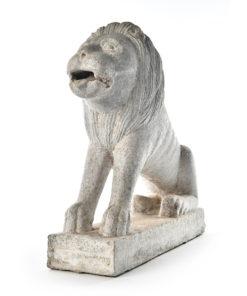Statue de lion en pierre - Julien Cohen Affaire Conclue