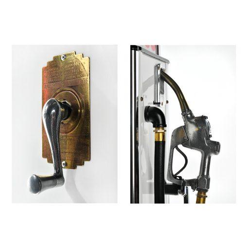 Pompe à essence ESSO de 1936 restaurée - Julien Cohen Mes Découvertes Marché aux Puces Saint Ouen