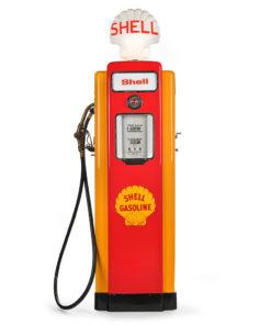 Pompe à essence SHELL américaine de 1947 restaurée - Marché aux puces Saint Ouen Mes Découvertes