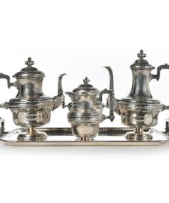 Service à thé et café en métal argenté - Julien Cohen Affaire Conclue