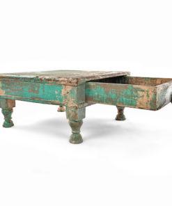 Table basse écritoire en bois patiné - Julien Cohen Affaire Conclue