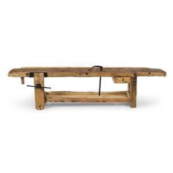 Etabli d'atelier en bois vintage