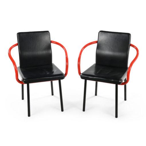 Paire de fauteuils Le Mandarin de Ettore Sottsass de 1987