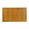 Meuble d'atelier en bois à la patine jaune