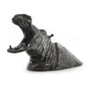 Hippopotame en fonte de fer