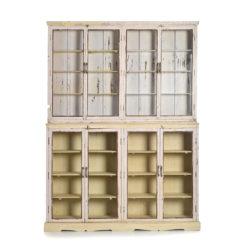 Grande armoire vitrée en bois