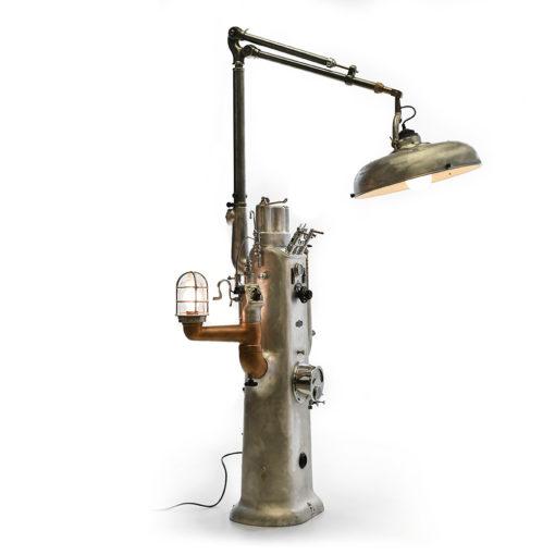 Meuble de dentiste transformé en luminaire industriel