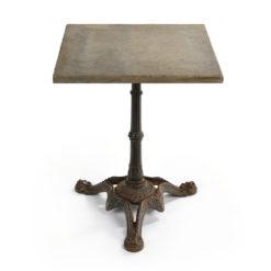 Table de bistro au pied en fonte et au plateau en pierre